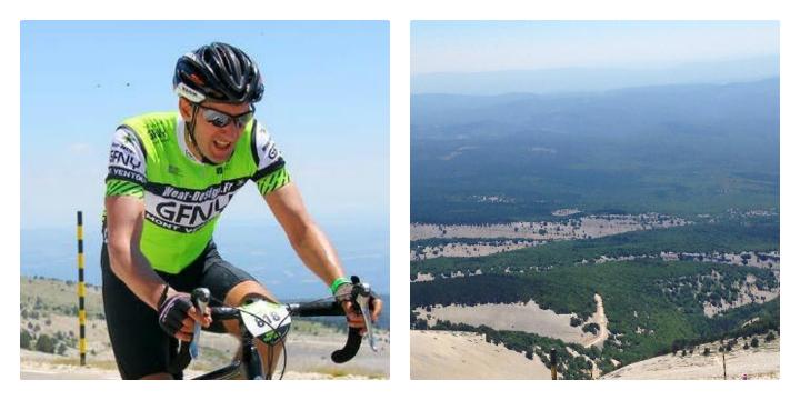 Andrew climbs Mont Ventoux