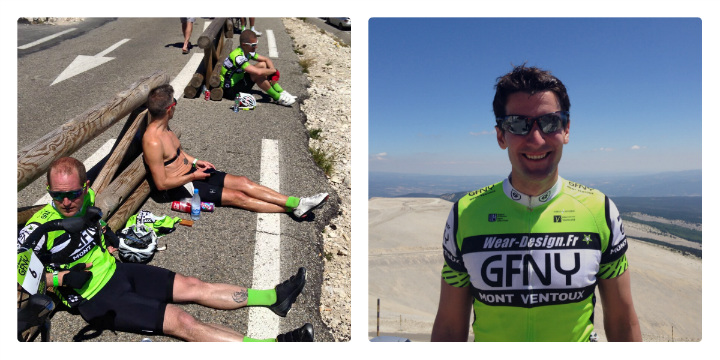 At the summit of Ventoux