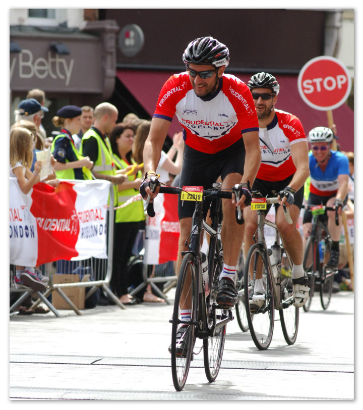 Andy of the Broleur team on London 100