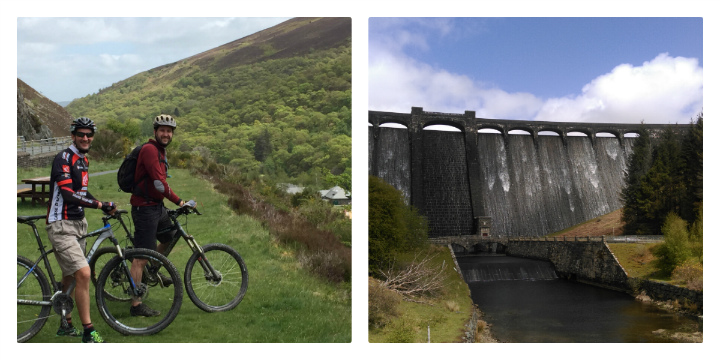 Elan valley views and mountain biking