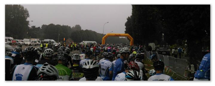Start line at La Ronde Picarde