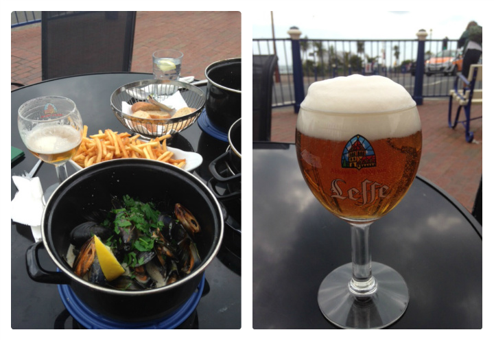 Moules and beer at The Belgian Cafe