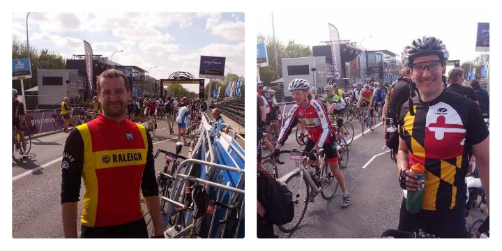 At the finish of the Ronde van Vlaanderen