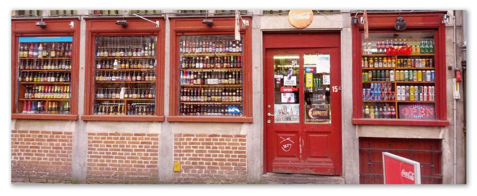 A beer shop in Ghent