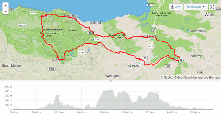 Route of the Tour of Wessex