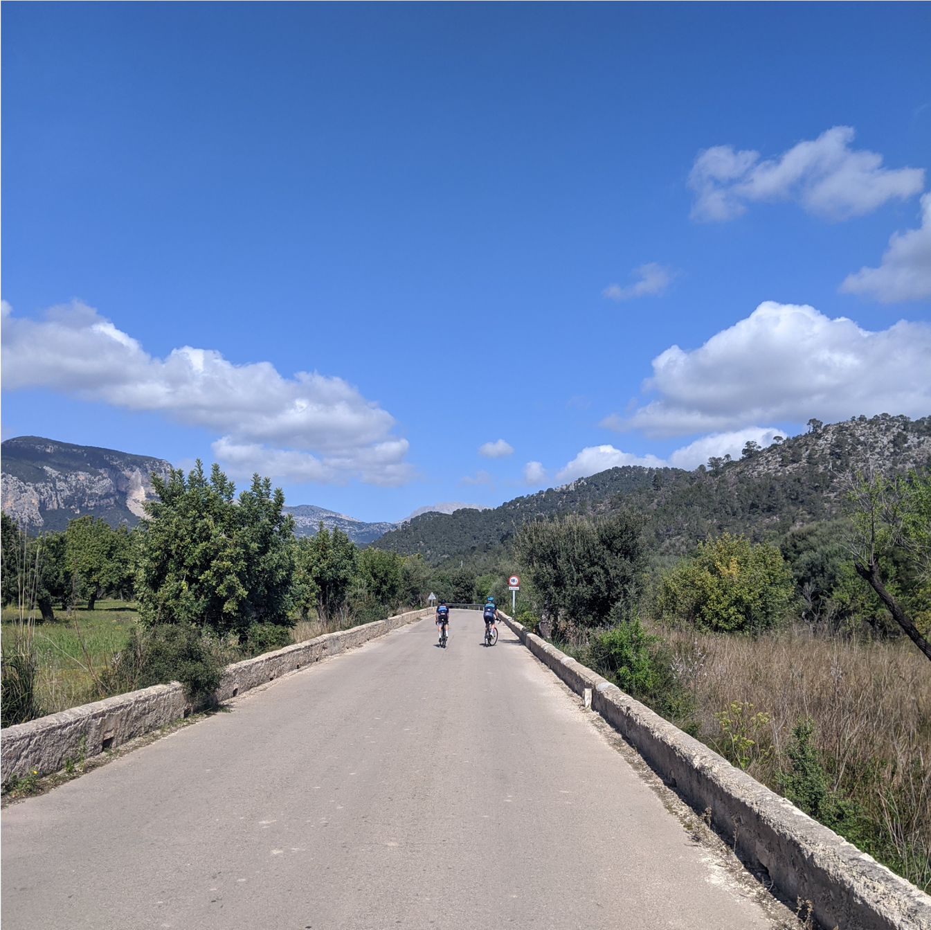 Cycling towards Orient in Mallorca