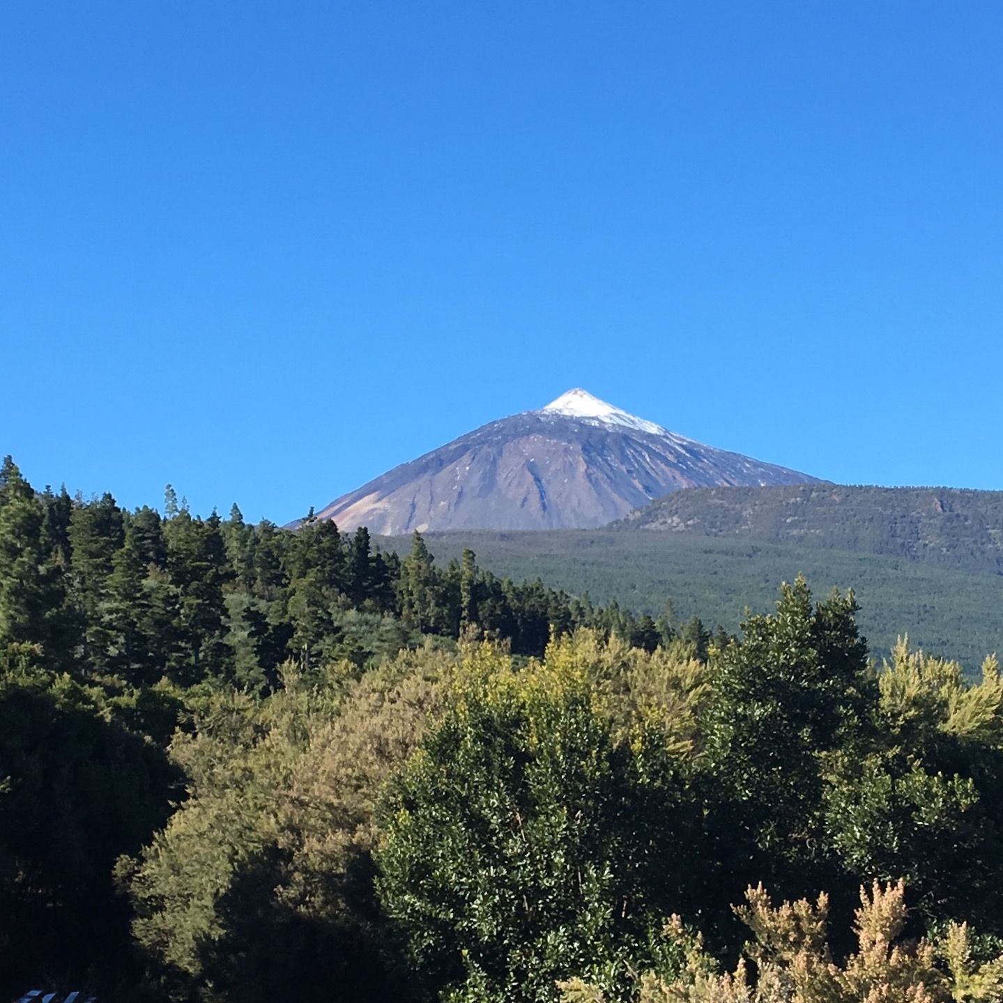 Cycling up towards the peak of mount Teide volcano
