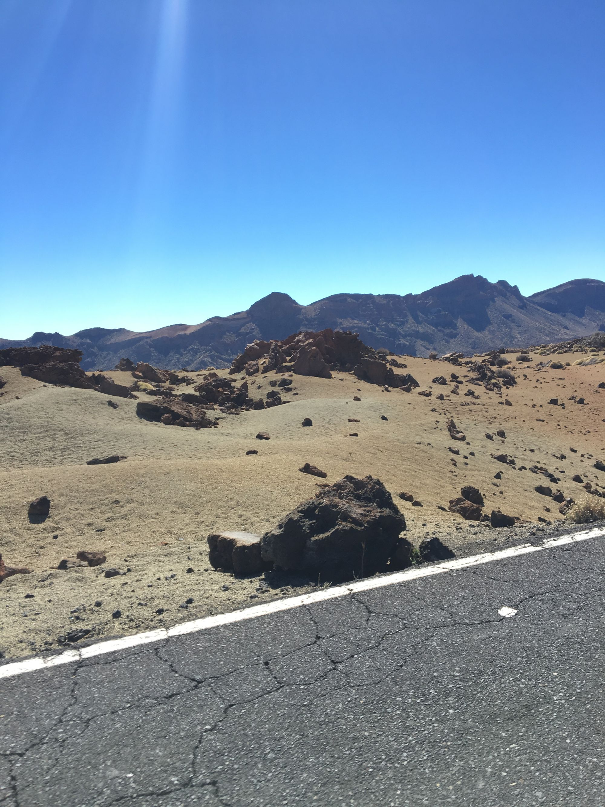 cycling in Tenerife and its barren volcanic landscape