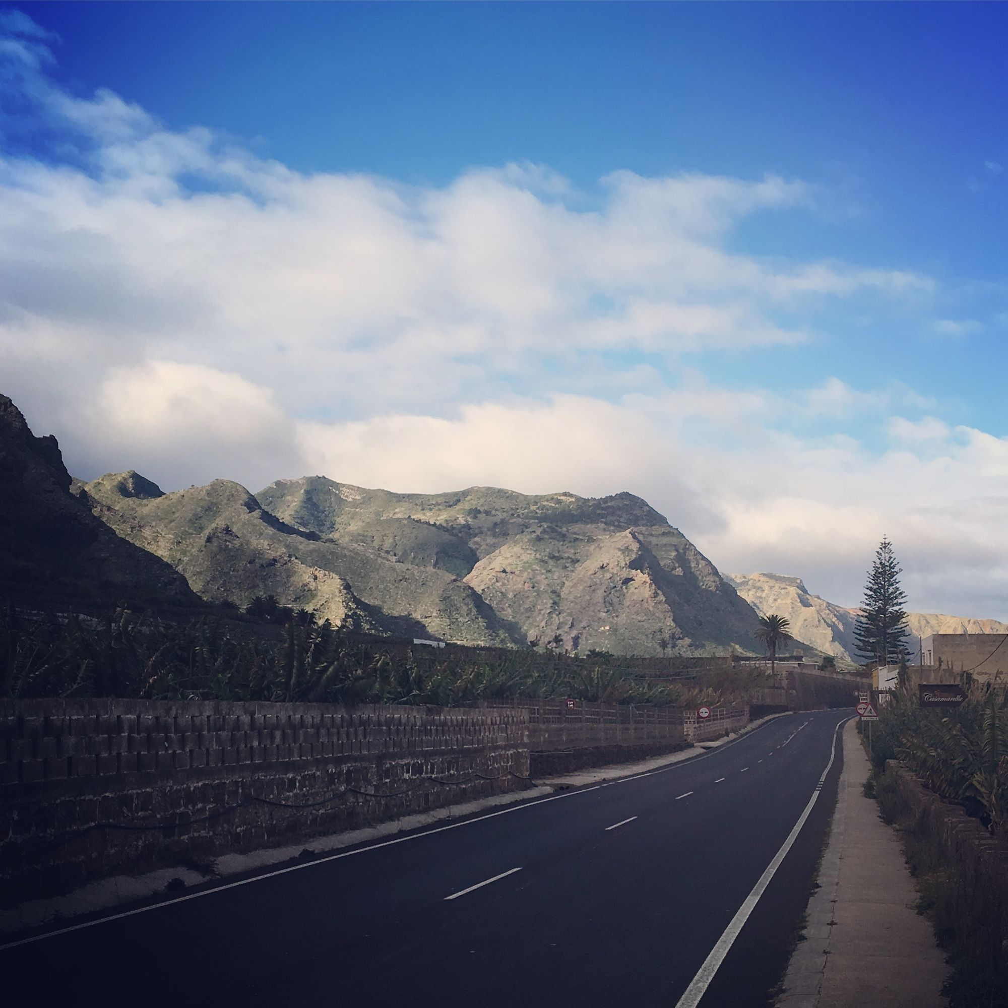 road cycling from Garachico to Buenavista in the north of Tenerife