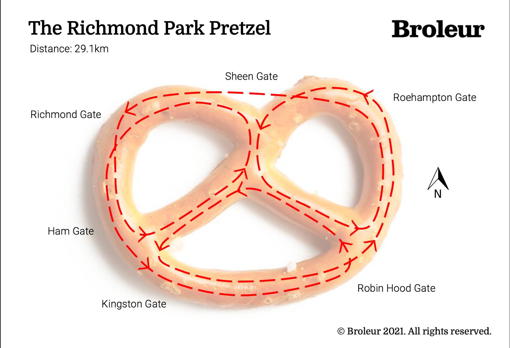 The Richmond Park Pretzel by Broleur