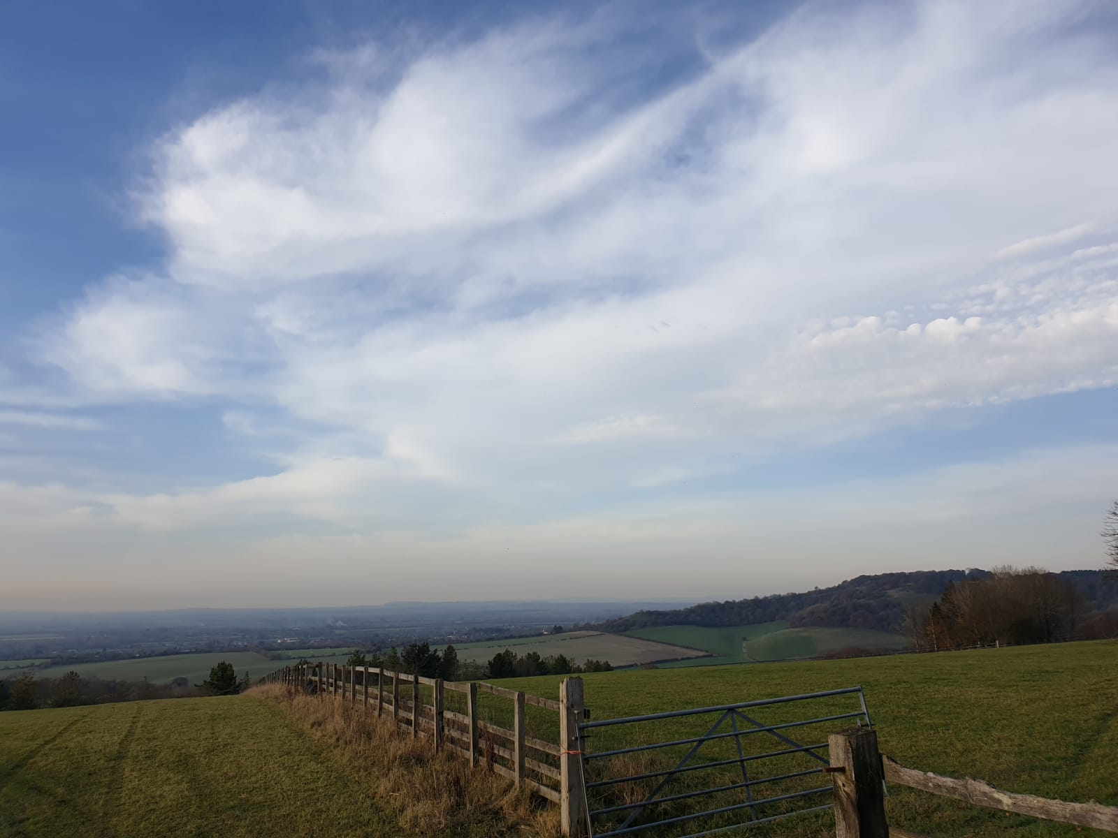 The view from the top of Wardrobes and Pink Hill