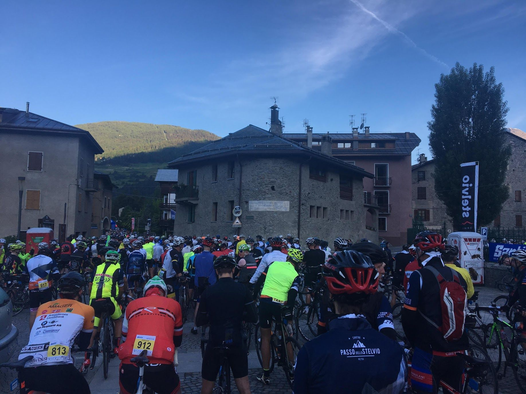 The tense start at a European sportive